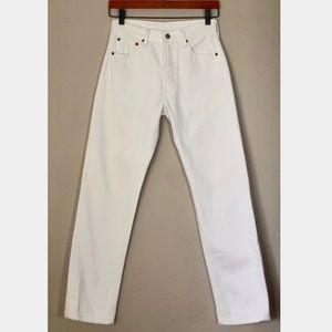 vintage white Levi's